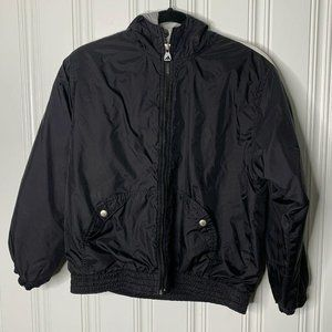 ADIDAS Black Spellout Full Zip Hooded Jacket L